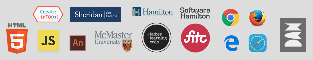 Friends of ZIM - CreateInTO, Sheridan College, McMaster University, City of Hamilton, Software Hamilton, Ladies Learning Code, FITC, Dan Zen