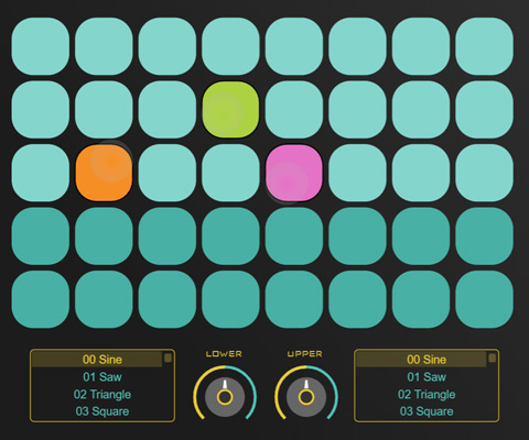 ZIM SynthPad - Multitouch Selector