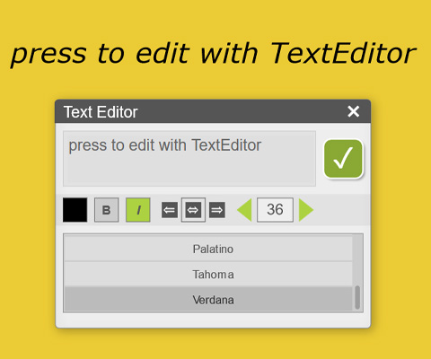 ZIM TextEditor - change properties of Label button toggleBackgroundColor