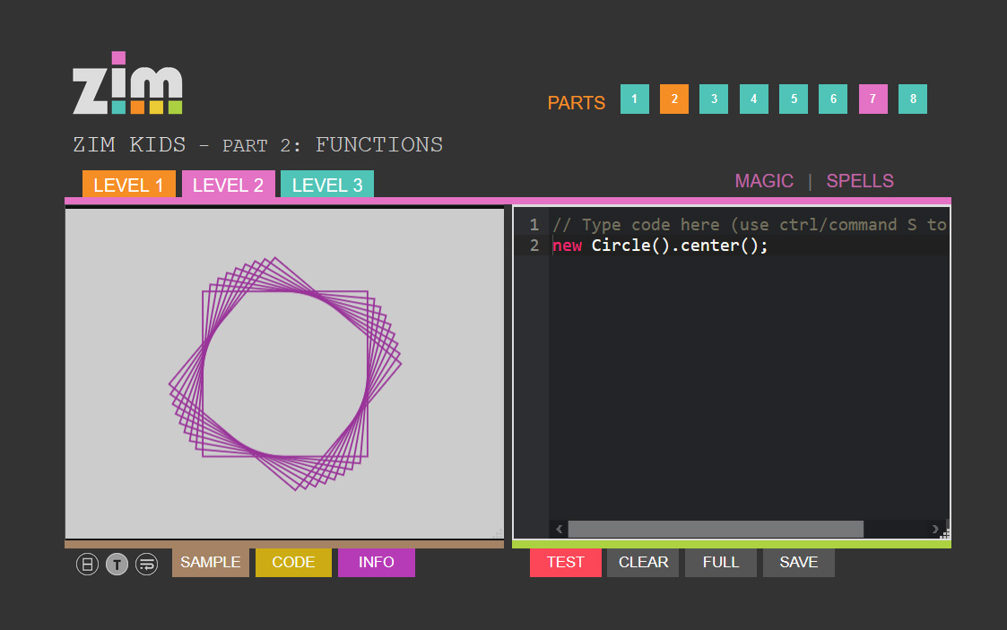 ZIM Kids Creative Coding Tutorials