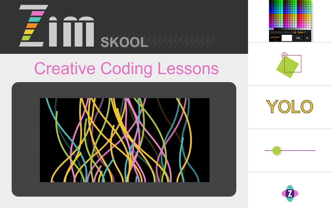 ZIM Skool Creative Coding Lessons