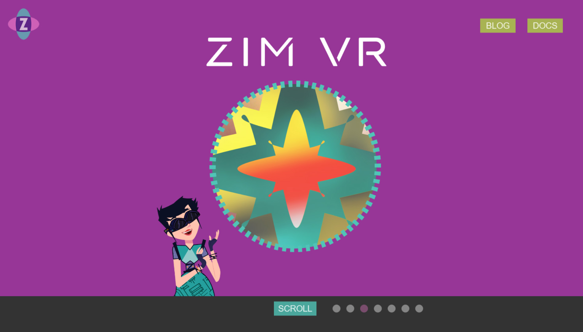 VR Interactive Mini-site with Scroll Parallax