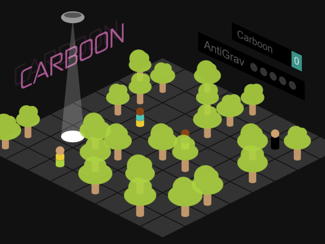 Carboon Isometric Game to collect and avoid