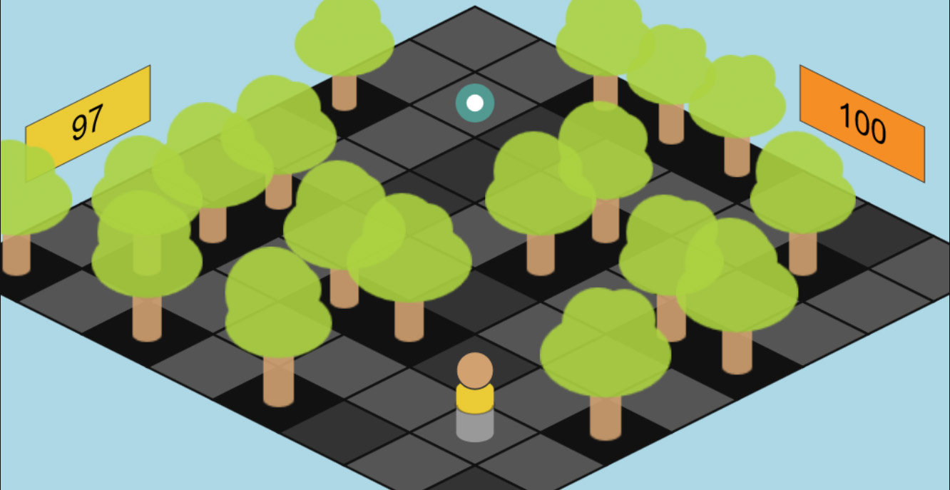 Isometric Maze Game Board in ZIM Game Module