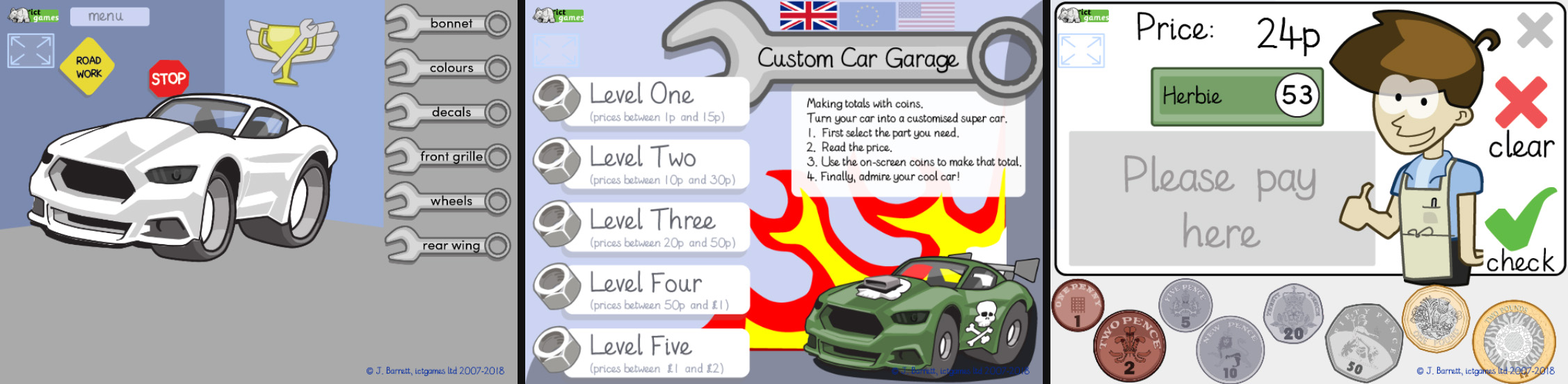 Custom Car Garage Kids App by ICT Games