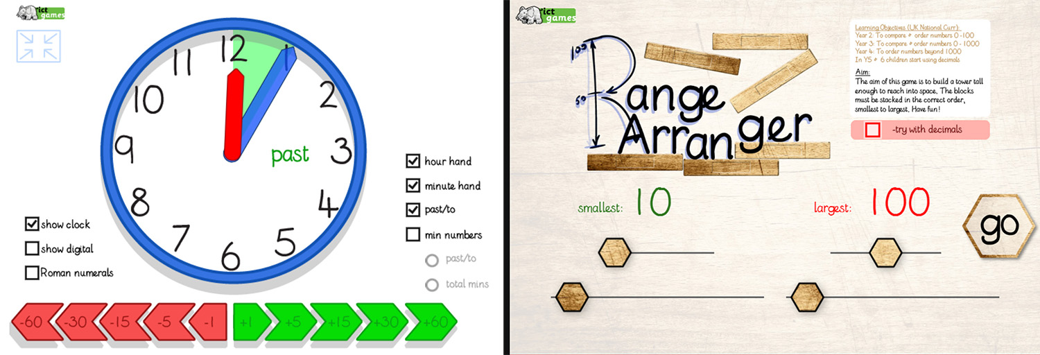Clock and Ranges Kids Apps by ICT Games