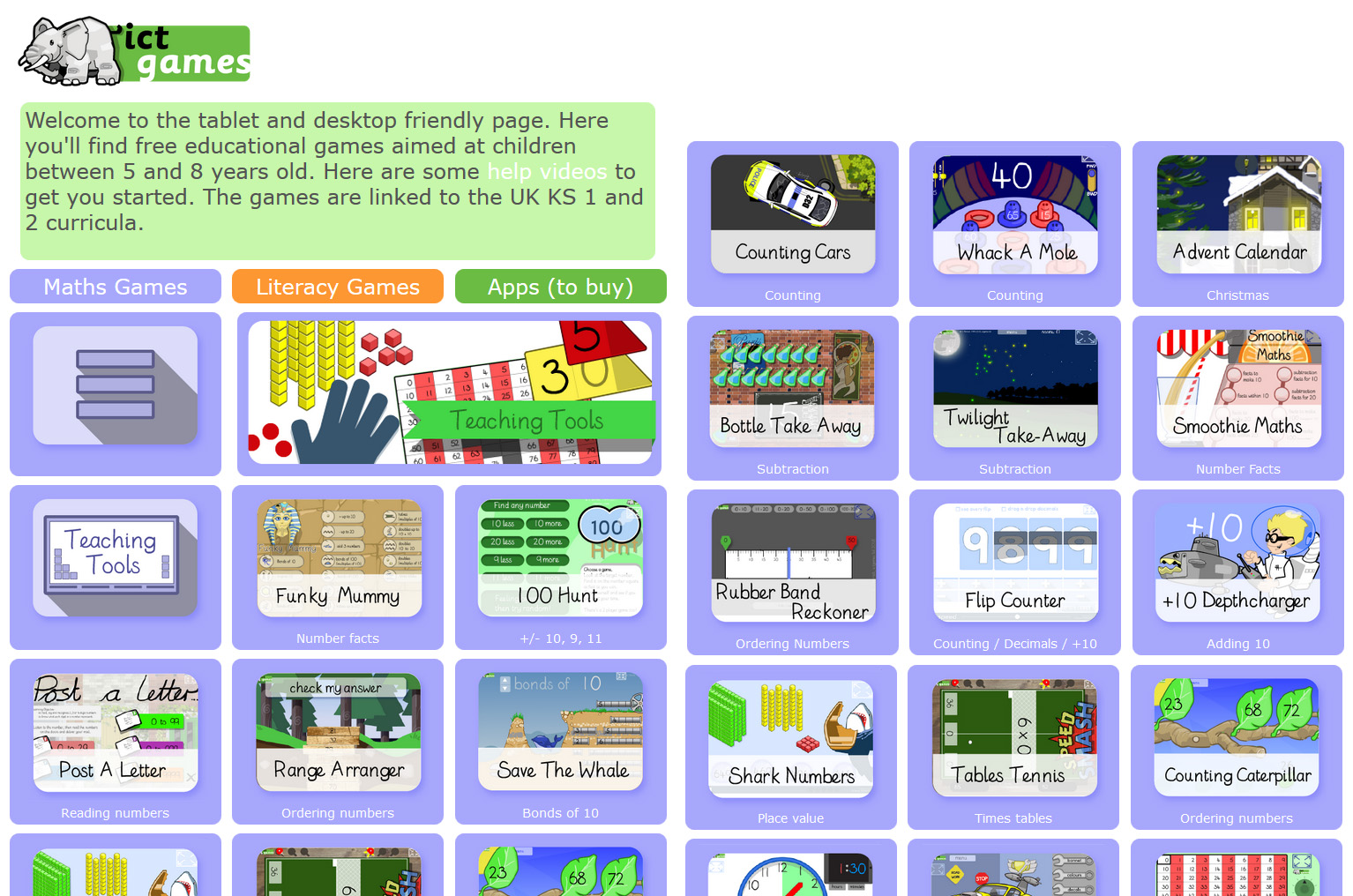ICT Games Educational Games for Math and Literacy