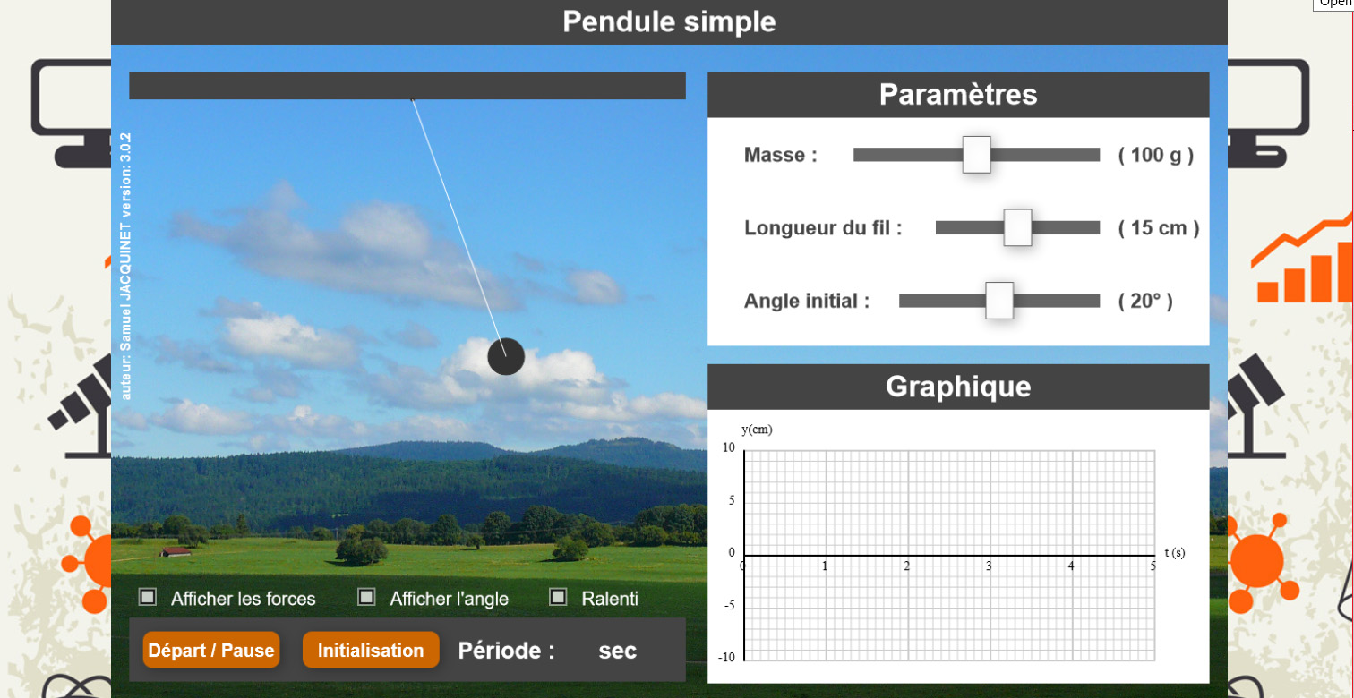 Labosims: Simple Pendulum E-Learning App by Samuel Jacquinet