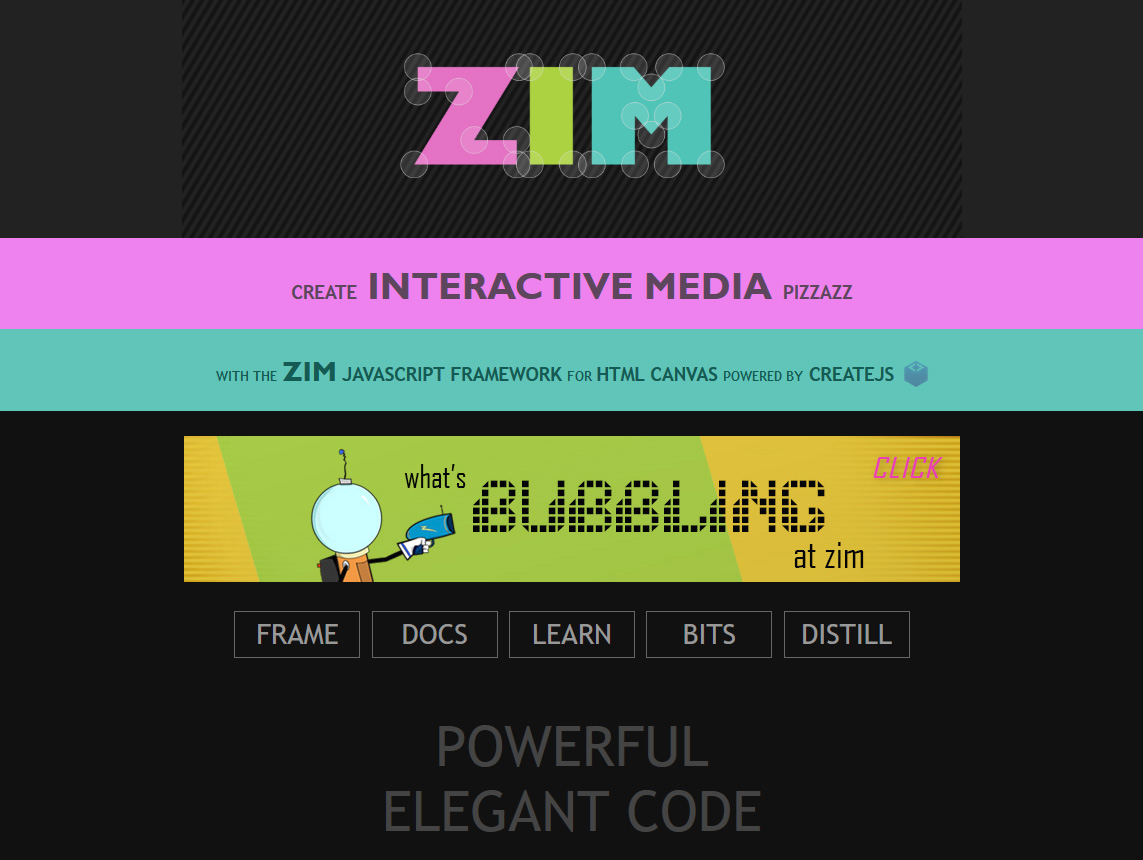 ZIM 4TH abstract art Interactive Logo with bubble handles
