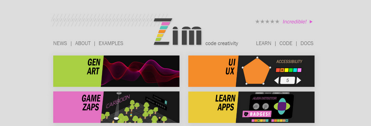 ZIM TEN particle emitter Rollover Logo interactivity!
