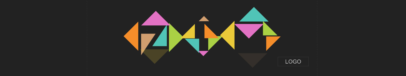 Shades of Tangram with the Interactive Logo for TRI ZIM