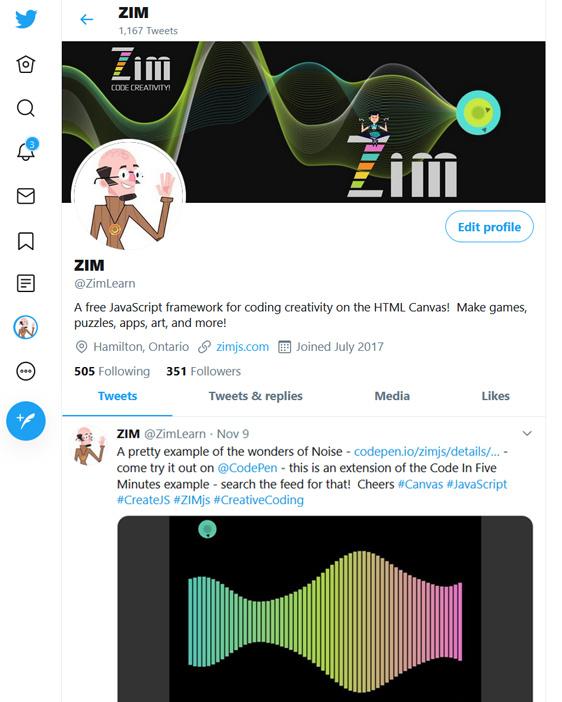 Follow ZIM on Twitter