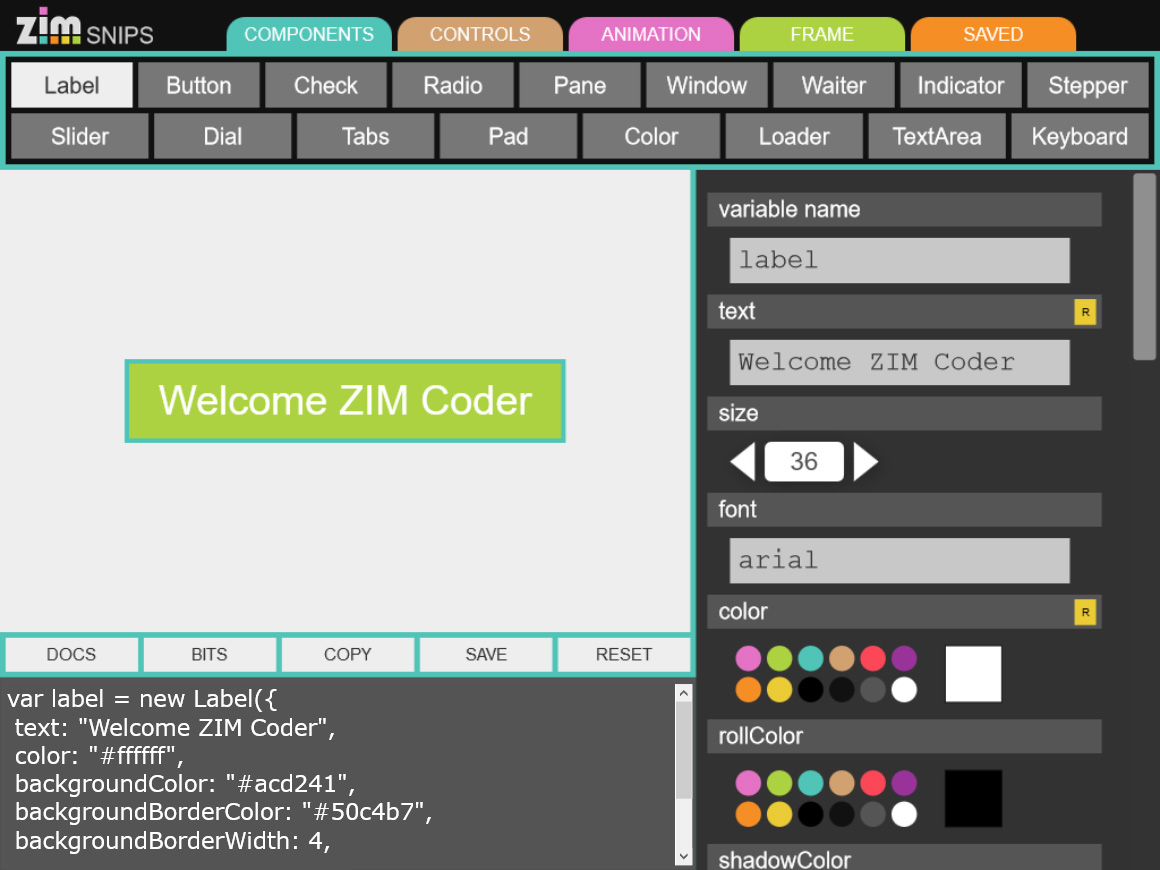 An abandoned App to make Interfaces ZIM Snips
