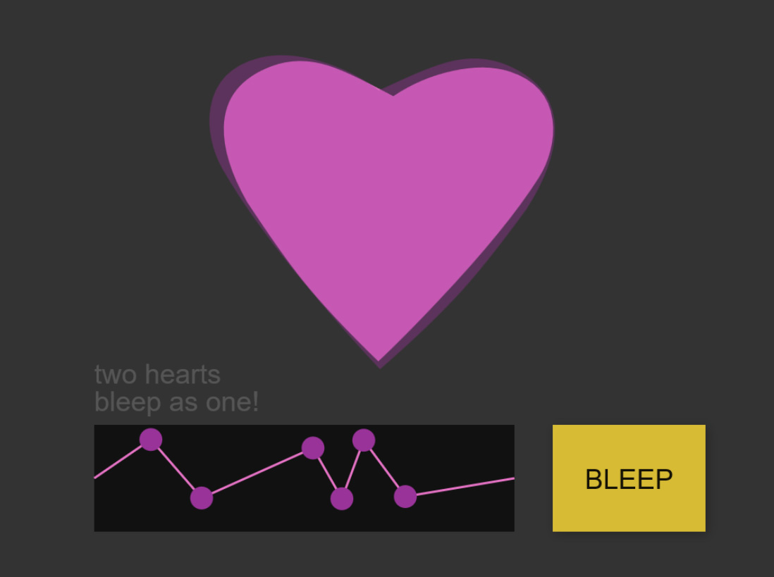 Heart Bleeps Valentine Card - turn up the sound