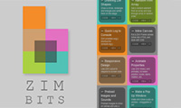 ZIM BITS - 64 Interactive Media Tips and Tutorials for HTML Canvas coding with JavaScript and CreateJS