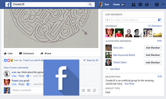 ZIM SUPPORT - on Facebook for HTML Canvas coding with JavaScript and CreateJS