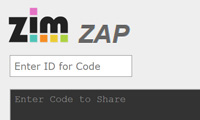 ZIM ZAP - Code Sharing for HTML Canvas coding with JavaScript and CreateJS