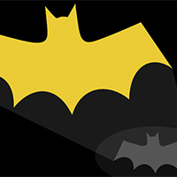 Bat Light on the Canvas made with ZIM JavaScript HTML Canvas Interactive Media Framework powered by CreateJS - ZIMjs