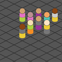 Isometric Game of Life on the Canvas made with ZIM JavaScript HTML Canvas Interactive Media Framework powered by CreateJS - ZIMjs
