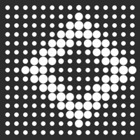 Dot Pattern at 54% size of HTML, CSS and JS on the Canvas made with ZIM JavaScript HTML Canvas Interactive Media Framework powered by CreateJS - ZIMjs
