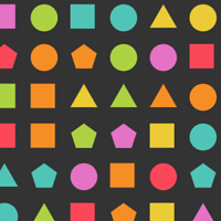 100 Shapes with Tips on the Canvas made with ZIM JavaScript HTML Canvas Interactive Media Framework powered by CreateJS - ZIMjs