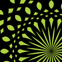 Op Art NFT for the made with ZIM JavaScript HTML Canvas Interactive Media Framework powered by CreateJS - ZIMjs