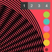 Simple Op Art Moire on the Canvas made with ZIM JavaScript HTML Canvas Interactive Media Framework powered by CreateJS - ZIMjs