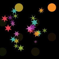 Pinball with Sparkle Particle Emitter at 21 percent Vanilla code on the Canvas made with ZIM JavaScript HTML Canvas Interactive Media Framework powered by CreateJS - ZIMjs