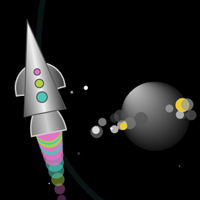 Rocket on Path Game featured on CodePen for the Canvas made with ZIM JavaScript HTML Canvas Interactive Media Framework powered by CreateJS - ZIMjs