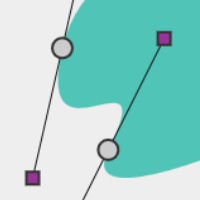 Squiggle to Blob featured on CodePen for the Canvas made with ZIM JavaScript HTML Canvas Interactive Media Framework powered by CreateJS - ZIMjs