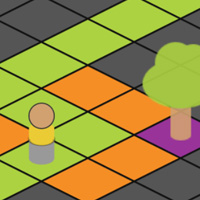 Isometric Game Board on the Canvas made with ZIM JavaScript HTML Canvas Interactive Media Framework powered by CreateJS - ZIMjs