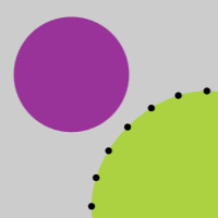 HitTest Path on the Canvas made with ZIM JavaScript HTML Canvas Interactive Media Framework powered by CreateJS - ZIMjs
