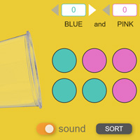E-learning Shake and Spill Math Game with ZIM JavaScript HTML Canvas Interactive Media Framework powered by CreateJS - ZIMjs