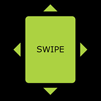 Swipe Event made with ZIM JavaScript HTML Canvas Interactive Media Framework powered by CreateJS - ZIMjs