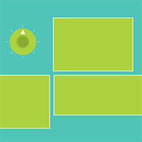 Responsive Tile made with ZIM JavaScript HTML Canvas Interactive Media Framework powered by CreateJS - ZIMjs