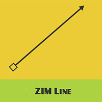 ZIM Line with custom ends with ZIM JavaScript HTML Canvas Interactive Media Framework powered by CreateJS - ZIMjs